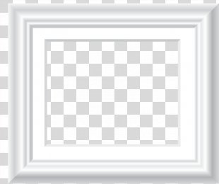 Picture Frame Pattern - White Frame PNG