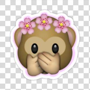 Emoji Sticker Image Crown Flower - Emoji PNG