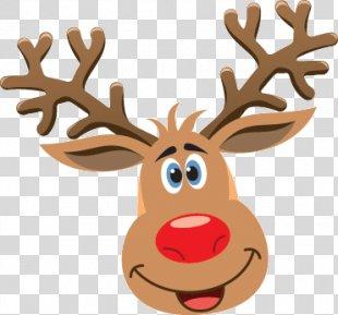 Reindeer Rudolph Drawing Clip Art - Reindeer PNG
