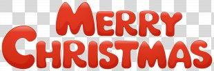 Santa Claus Christmas Cartoon Illustration - Red Merry Christmas Transparent Clip Art Image PNG