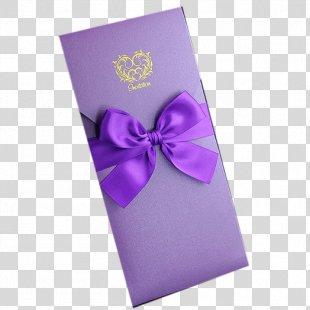 Wedding Invitation Purple Convite Marriage - Invitation Card,Wedding Invitation,invitation PNG