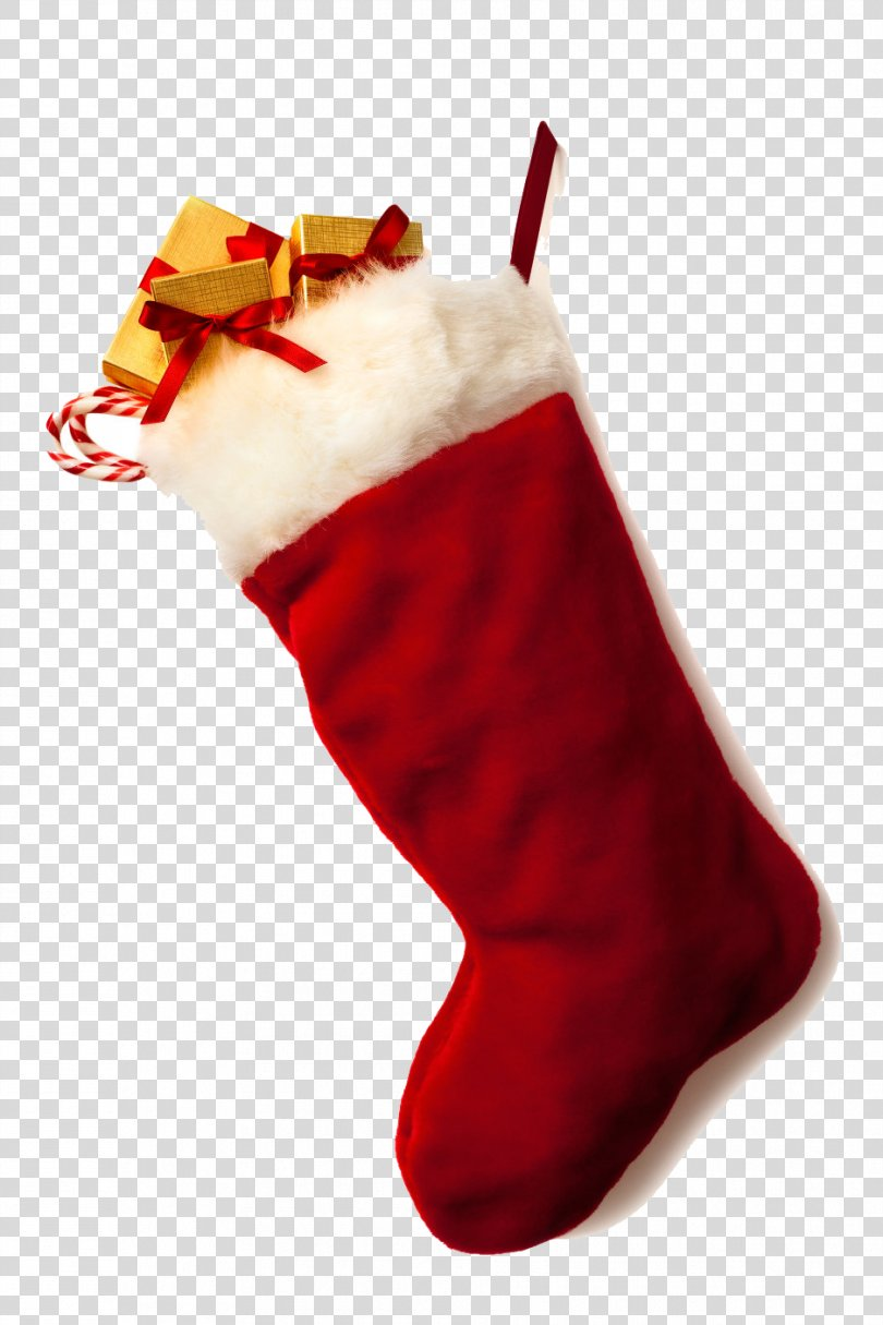 Christmas Stocking Santa Claus Candy Cane, Christmas Stocking Clipart PNG