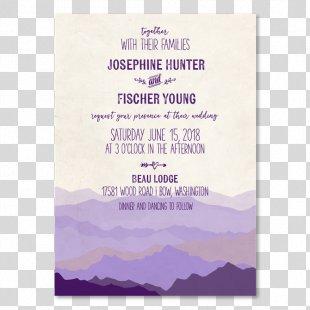 Wedding Invitation Paper Mountain Range Convite - Paper Wedding Invitation PNG