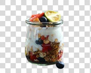 Muesli Breakfast Cereal Congee Parfait - Pudding Cup Of Fruit Yogurt Cereal PNG