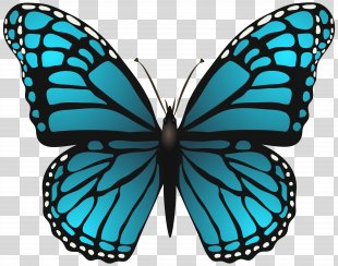 Butterfly Postage Stamp Paper Clip Art - Large Blue Butterfly Clip Art Image PNG