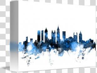 Skyline Canvas Print Art Gallery Wrap - Atlanta Skyline PNG