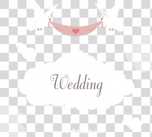 Wedding Invitation Paper Columbidae Marriage - Pull Ribbon Dove Wedding Invitation Card Vector Material PNG