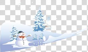 Snow Winter Euclidean Vector - Snow Vector Snowy Material PNG