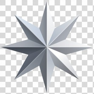Star Silver Clip Art - Silver Star Cliparts PNG