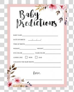 Wedding Invitation Baby Shower Flower Bridal Shower Infant - Baby Shower Invitation PNG
