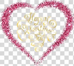 Valentine's Day Heart Romance Clip Art - Romantic Valentine's Day Vector Decorative Material PNG