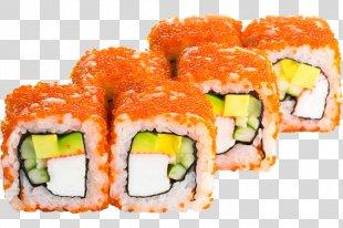 Sushi Makizushi Japanese Cuisine California Roll Pizza - Sushi PNG