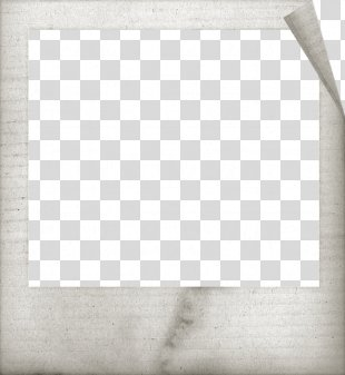 Paper Picture Frame Material - White Frame PNG
