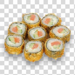 Sushi Makizushi Japanese Cuisine California Roll Vegetarian Cuisine - Sushi Roll PNG