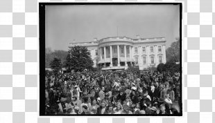 White House South Lawn Black And White President Of The United States - White House PNG