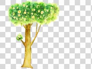 Cartoon Poster Illustration - Illustration Tree PNG