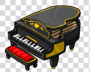 Piano Animation Club Penguin Television - Piano PNG