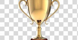 Trophy Award Prize Gold Medal - Gold Trophy PNG
