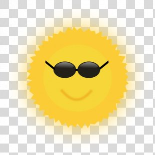 Smiley Yellow Cartoon Text Messaging Glasses - Free Sun Cliparts PNG