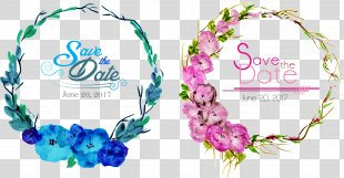 Wedding Invitation Flower Euclidean Vector Clip Art - Vector Hand-painted Flower Borders PNG
