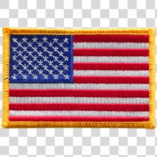 Flag Of The United States Flag Patch Embroidered Patch - American Flag PNG