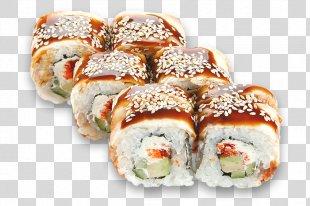 Makizushi California Roll Sushi Pizza Unagi - Sushi PNG