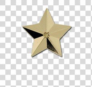 Badges Plus Ltd Star Lapel Pin Pin Badges - Gold Badge PNG