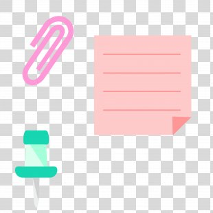 Paper Clip Drawing Pin - Paper Pushpin PNG