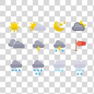 Icon Design Weather Icon - Mini Weather Icon Design PNG