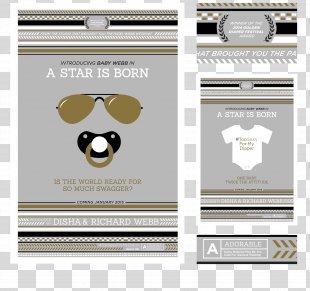 Wedding Invitation Baby Shower Birth Diaper Infant - Invitation.poster PNG