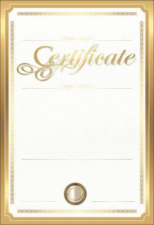 Paper Academic Certificate Gold Certificate Clip Art - Gold Certificate Template Clip Art Image PNG