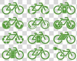 Icon Design Environmental Protection Icon - Eco Bike Icon Design PNG