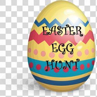 Red Easter Egg Clip Art - Easter Egg Hunt PNG