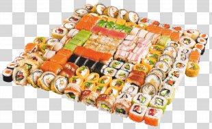 Japanese Cuisine Sushi Makizushi California Roll Unagi - Sushi PNG