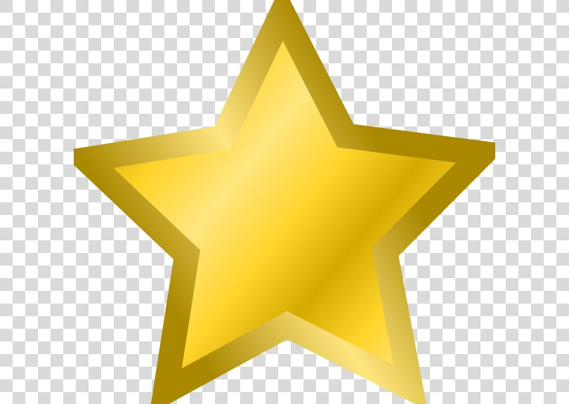 Star Gold Metallic Color Clip Art, Gold Star Cliparts PNG, Free Download