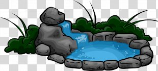 Fish Pond Waterfall Clip Art - Waterfall PNG