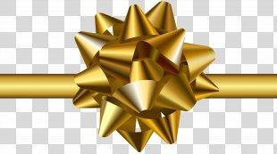 Ribbon Clip Art - Gold Bow Transparent Clip Art Image PNG