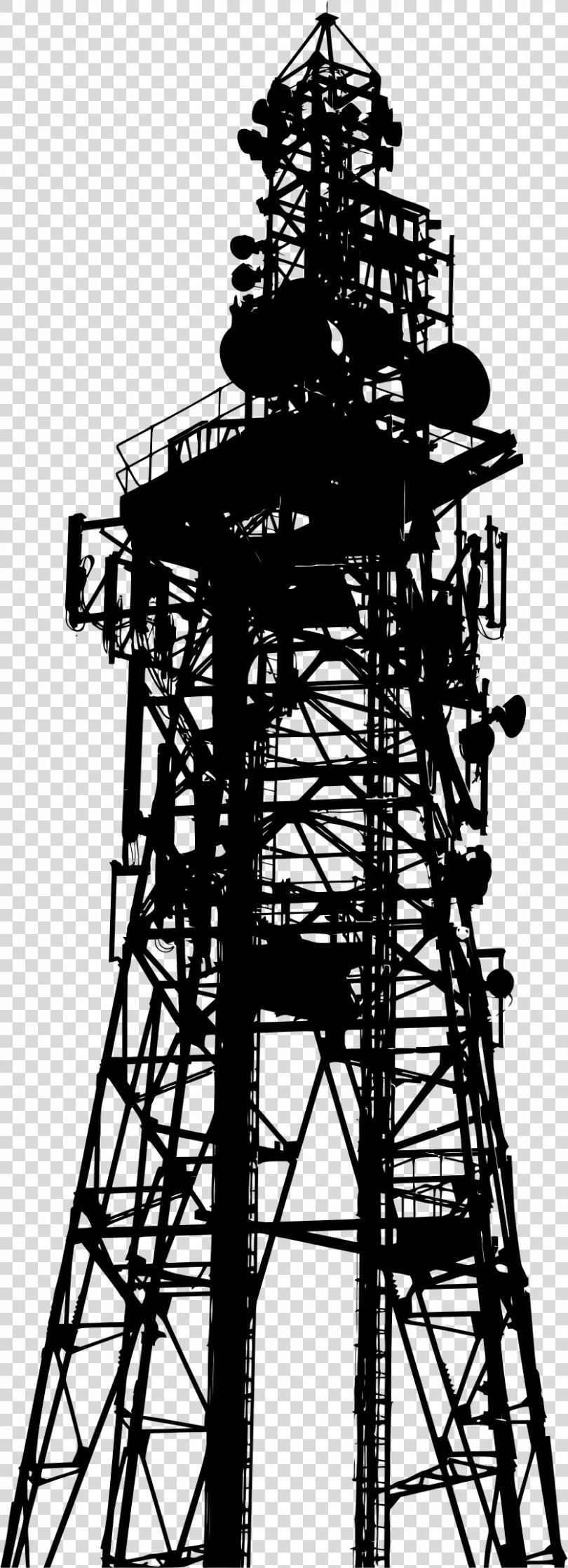 Telecommunications Tower Silhouette Clip Art, Wireless PNG