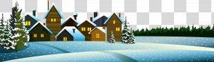 Snow Winter Euclidean Vector Illustration - Snowy Winter Night PNG