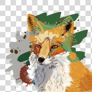 Watercolor Painting Poster Illustration - Vector Illustration Fox PNG