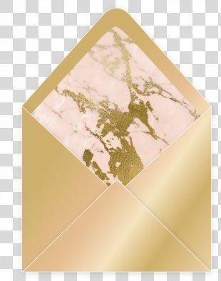 Wedding Invitation Paper Envelope Gold Gilding - Wedding Invitation Gold PNG