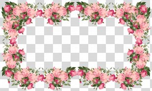 Borders And Frames Flower Clip Art - Border PNG