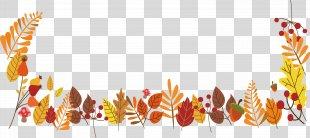 Autumn Leaves Leaf - Autumn Leaves Decoration Box PNG