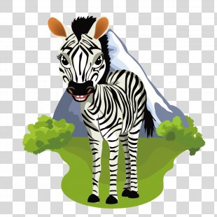Animal Variety Animation Illustration - Cute Zebra PNG