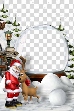 Santa Claus Christmas Eve New Year - Christmas Border Background Template Template Download PNG