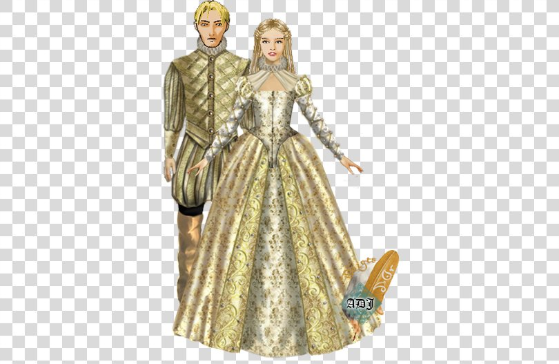 Costume Design Gown Barbie Pattern, Choper PNG