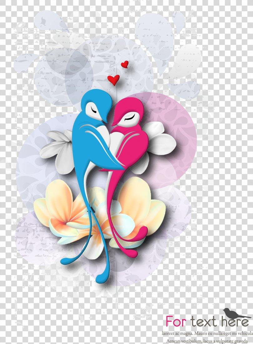 Cartoon Love Birds PNG