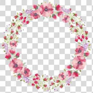Floral Design Watercolor Painting Paper - Border Watercolour PNG