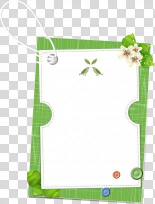 Border Flowers Download - Green Floral Border PNG