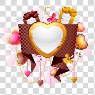 Valentine's Day Heart Gift Clip Art - Valentine's Day PNG